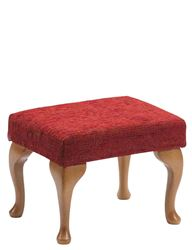 Picture of Queen Anne Footstool - Crimson