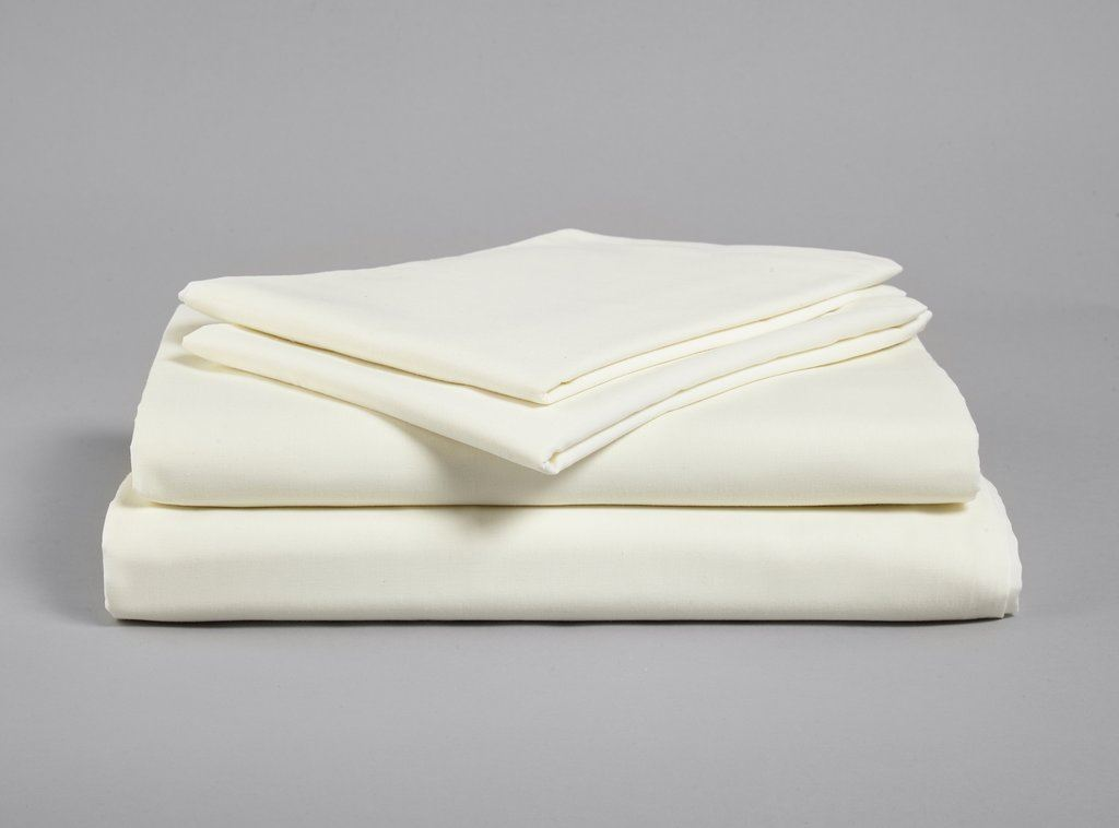 Picture of Fitted Sheet, Poly/Cotton, Cream, Single