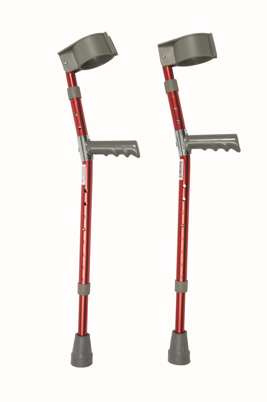 Picture of Red Paediatric Crutches (Pair)