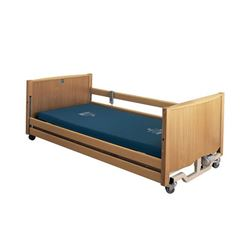 Picture of Bradshaw Low Nursing Care Bed – Light Oak (without Side Rails)