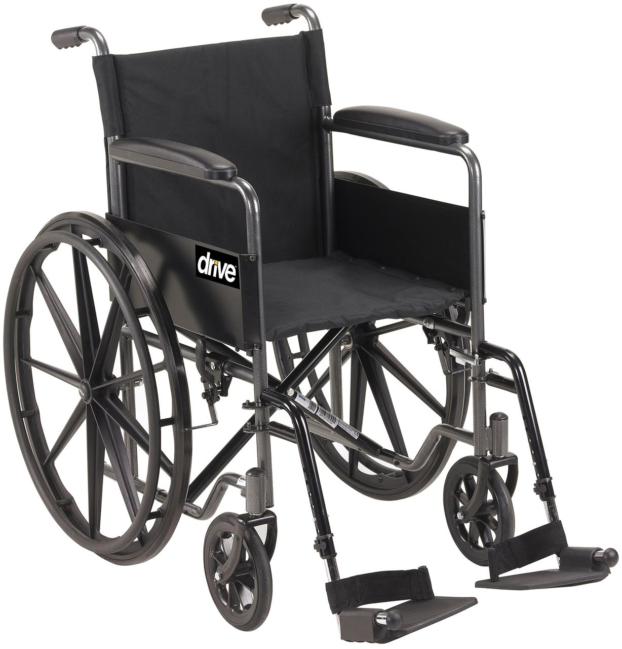 "Picture of Silver Sport Steel Wheelchair 45cm (18"") - Self Propel"