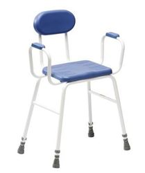 Picture of Deluxe Perching Stool Adjustable Height, Padded Arms & Back