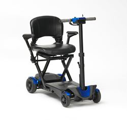 Picture of 4-Wheel Auto Folding Scooter - Blue