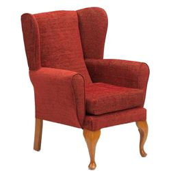 Picture of Queen Anne Chair - Crimson