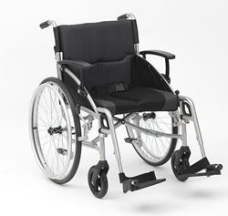 """Picture of 19"""" Phantom Silver Wheelchair - Self-Propel"""