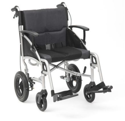 """Picture of 19"""" Phantom Silver Wheelchair - Transit"""
