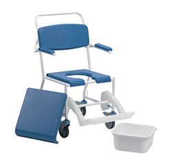 Picture of Uppingham Mobile Commode Shower Chair with Footrest