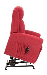 Picture of Memphis Dual Motor Riser Recliner - Berry