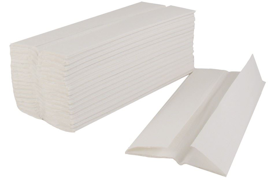 Picture of 2-Ply White C-Fold Hand Towels (2400)