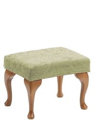 Picture of Queen Anne Footstool - Sage
