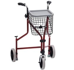 Picture of Steel Tri-Walker with Push Down Brakes - Red