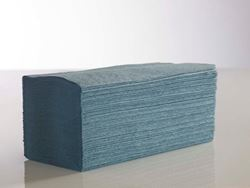 Picture of 1-Ply Interfold Blue Hand Towel (5000)