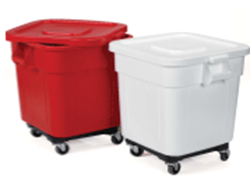 Picture of Huskee Bins with Lids & Wheels  Red  57 x 55 x 55 cm