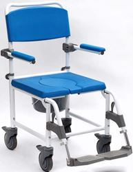 """Picture of Aston Heavy Duty Shower Commode (22"""" Seat Width) with Footrest - **WE**"""