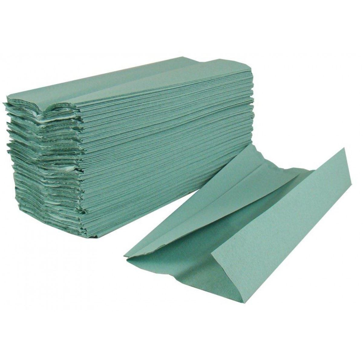 Picture of 1-Ply Green C-Fold Hand Towels (2520 Sheets) - [CF1GR]