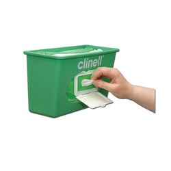 Picture of Clinell Sanitising Wipes Wall Dispenser Green