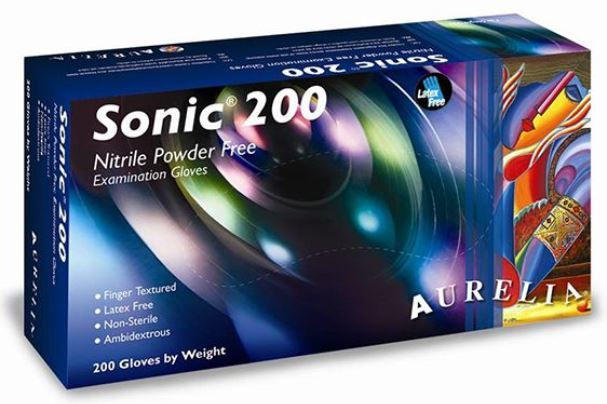 Picture for category Sonic Blue Nitrile Gloves (200/box)