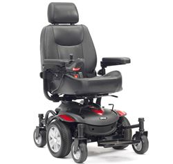 Picture of Titan AXS Mid-Wheel Powerchair - Red/Blue