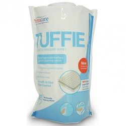 Picture of Vernacare Tuffie Detergent Wipes Flexible Canister (150)