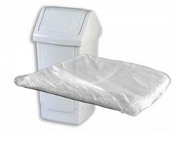 Picture of White SWING Bin Liners FLAT PACK  (1000/case) -- 330 x 584 x 762mm [SBL]
