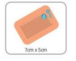 Picture of Washproof Plaster Sterile Jumbo Strip 7.5 x 5cm (50) ** [535]
