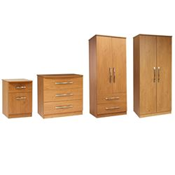 Picture of Karsson Bundle 1 - Double Wardrobe, Chest & Bedside Cabinet