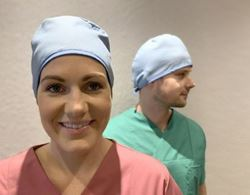 Picture of Reusable Surgical Caps - Blue - One Size (with ties) [Pack of 5]