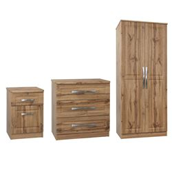 Picture of Marcello Bundle - Double Wardrobe, Chest & Bedside Cabinet