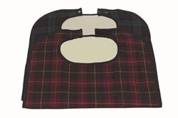 Picture of Clothing Protector w/ Popper Fastening - Red Tartan (86cm x 45cm)