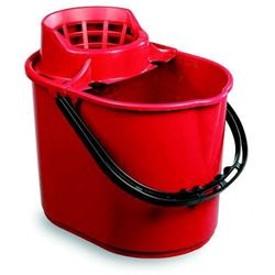 Picture of Economy Mop Bucket & Wringer (15 Litres) RED
