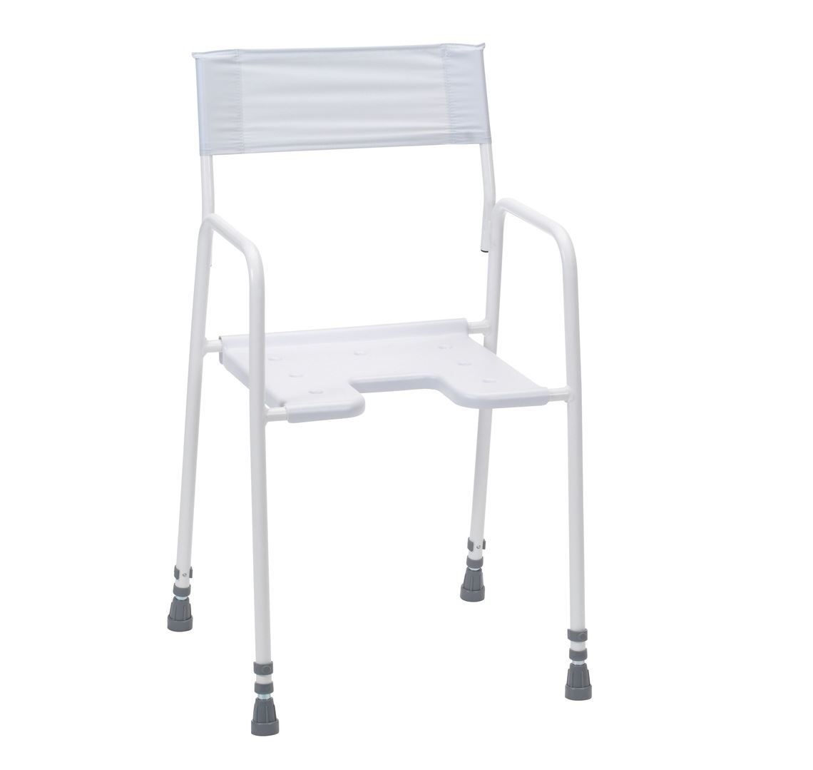 Picture of Bradgate Shower Stool with Back