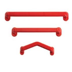"""Picture of 13"""" Curved Plastic Grab Rail - RED"""