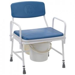 Picture of Belgrave Adjustable Height, Detachable Arms Bariatric Commode  **