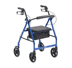 """Picture of Height Adjustable Rollator with 8"""" Wheels (Blue)"""