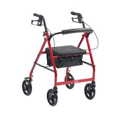"""Picture of Lightweight Aluminium Rollator with 8"""" Wheels (Red)"""