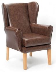 Picture of Marlborough High Back Chair in AM-PVC - Brown