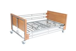 Picture of Ultra Low Bariatric Profiling Bed - Metal Mesh and Metal Side Rails (Exposed Actuators)