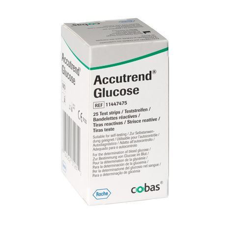Picture of Accutrend Glucose Test Strips (25)