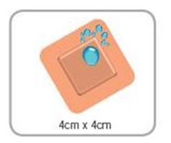 Picture of Washproof Plaster Sterile Patch 4cm x 4cm (100) **