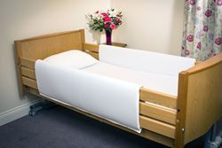 Picture of Standard Length Profiling Bed Rail Bumpers - White (87cm x 137cm) [PAIR]