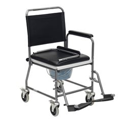 Picture of Glideabout Commode - 4 Brake Castors & Drop Down Armrests