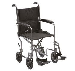 """Picture of 19"""" Steel Transit Travel Chair (Silver)"""