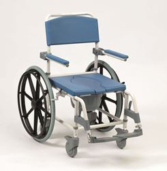 Picture of Aston Shower Commode (18'' Seat Width) with Footrest - SELF PROPEL **