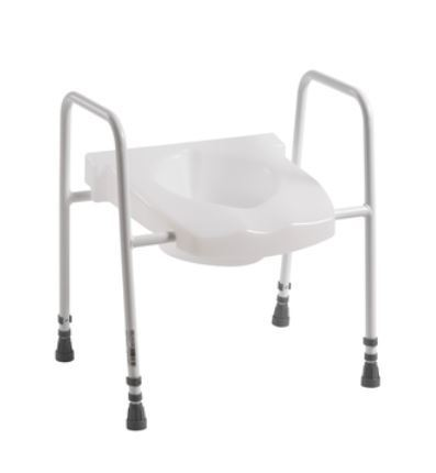 Picture of Spalding Combi Scandia Toilet Frame with Toilet Seat - Floor Fixing Legs  **