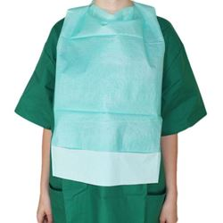 Picture of Disposable Adult Bibs with Front Pocket - GREEN (50/pack)
