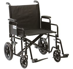 """Picture of 22"""" Bariatric Steel Transport Chair"""