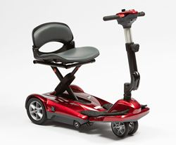Picture of Dual Wheel Auto Fold Scooter - Red