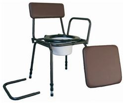 Picture of Stacking Commode - Adjustable Height with Removable Armrests